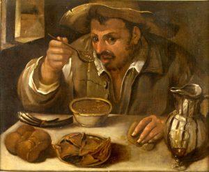 Mangia come cognome: Mangia Fagioli- quadro di Annibale Carracci