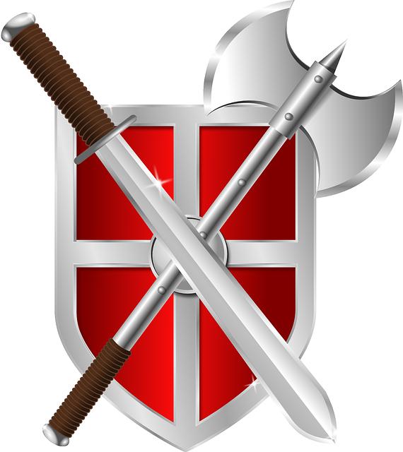 Ferri, armi e scudo