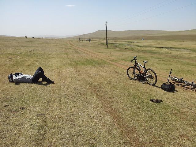 Bici in attesa di ciclista stanco