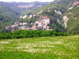 Vista del paese di Cessole