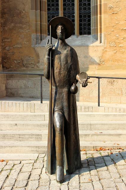 Pellegrino Statua a Campostela