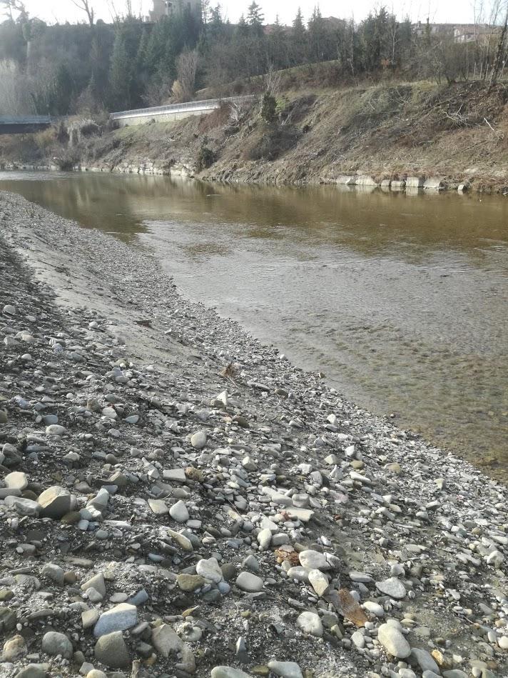 Bormida di Millesimo: Argini dopo l'alluvione del 2016