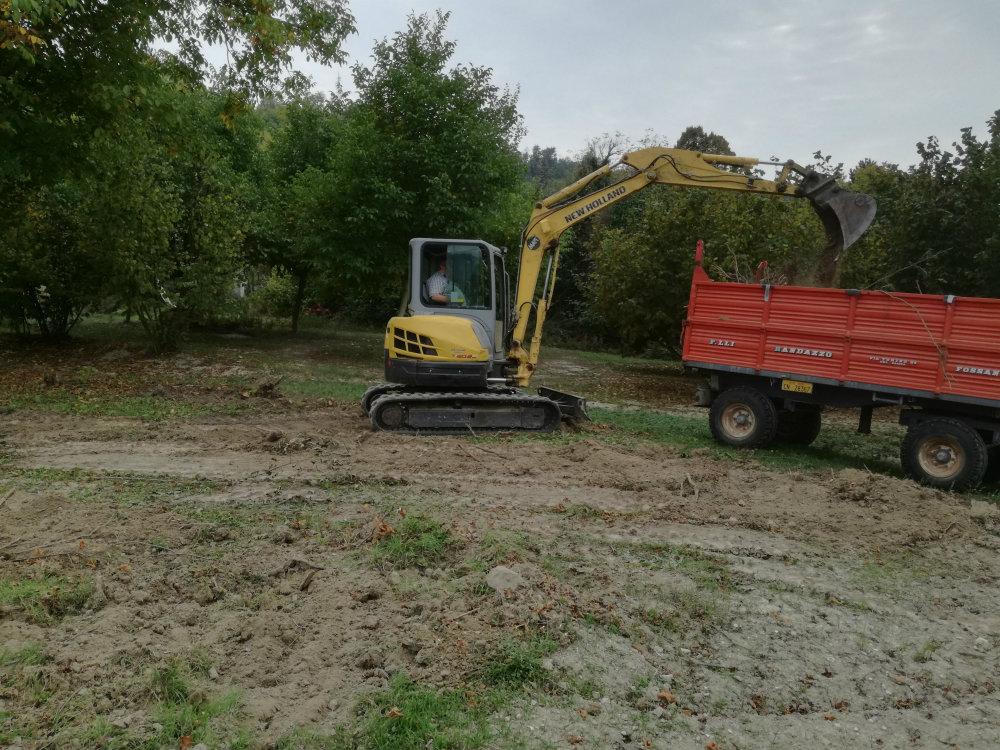 Lavori di sistemazione terreni dopo alluvione del 2016